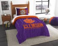 Clemson Tigers Modern Take Twin Comforter Set