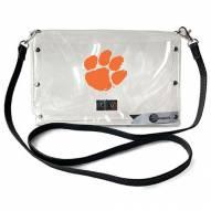 Clemson Tigers Clear Envelope Purse