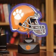 Clemson Tigers Neon Helmet Desk Lamp