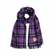 Clemson Tigers Plaid Blanket Scarf