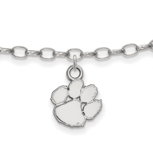 Clemson Tigers NCAA Sterling Silver Anklet
