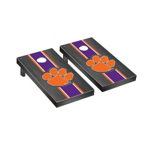 Clemson Tigers Onyx Stained Cornhole Game Set