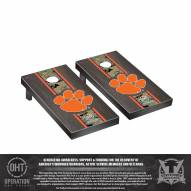 Clemson Tigers Operation Hat Trick Stained Cornhole Game Set