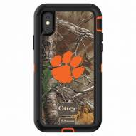 Clemson Tigers OtterBox iPhone X Defender Realtree Camo Case