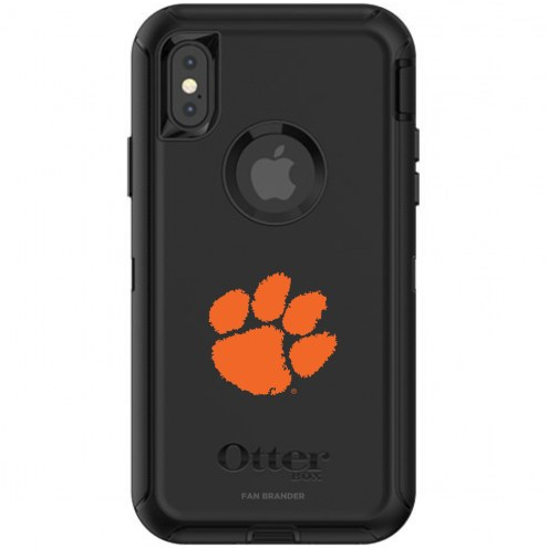 Clemson Tigers OtterBox iPhone X/Xs Defender Black Case