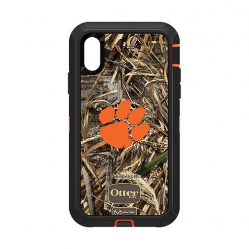 Clemson Tigers OtterBox iPhone XR Defender Realtree Camo Case