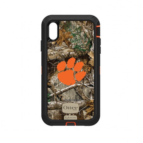 Clemson Tigers OtterBox iPhone XS Max Defender Realtree Camo Case