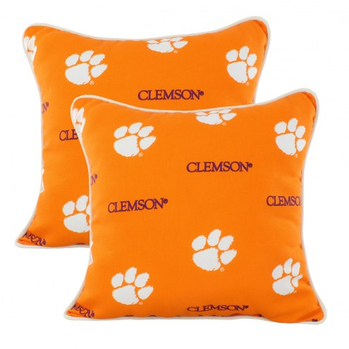 Clemson Tigers Outdoor Decorative Pillow Set