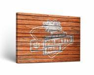 Clemson Tigers Palmetto Weathered Canvas Wall Art
