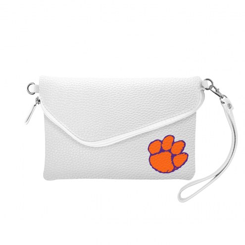 Clemson Tigers Pebble Fold Over Purse