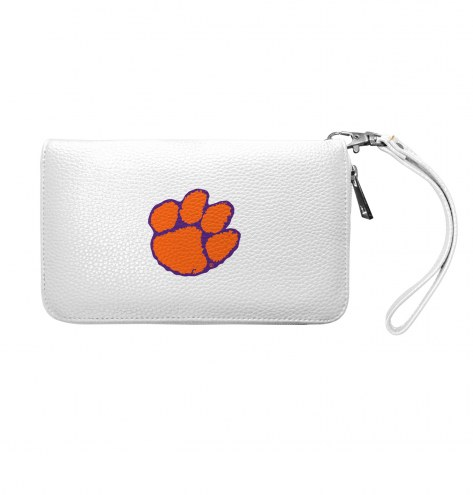 Clemson Tigers Pebble Organizer Wallet