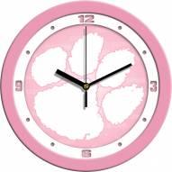Clemson Tigers Pink Wall Clock