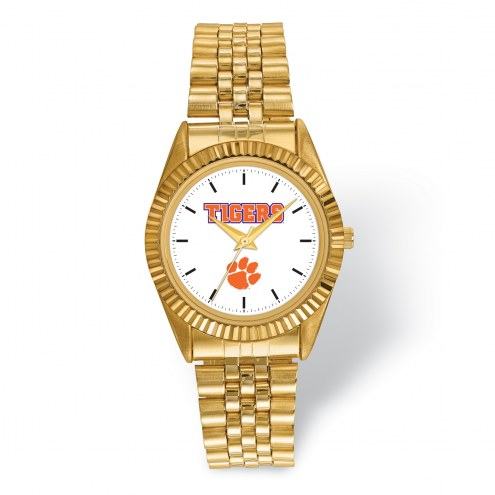 Clemson Tigers Pro Gold Tone Gents Watch