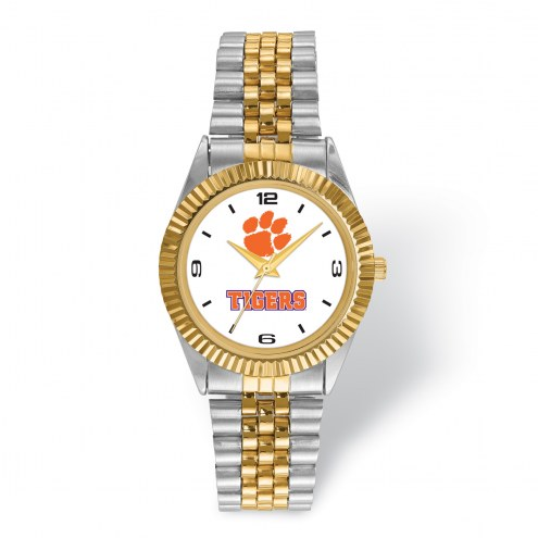Clemson Tigers Pro Two-Tone Gents Watch