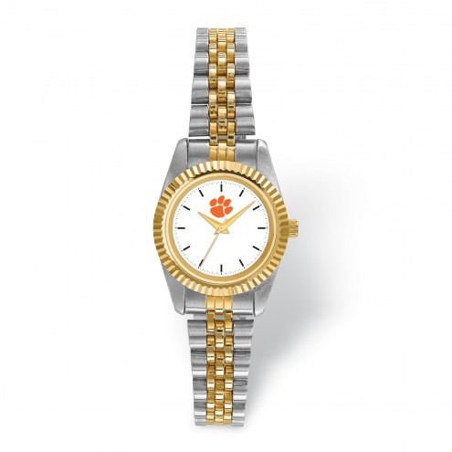 Clemson Tigers Pro Two-Tone Ladies Watch