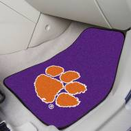 Clemson Tigers Purple 2-Piece Carpet Car Mats