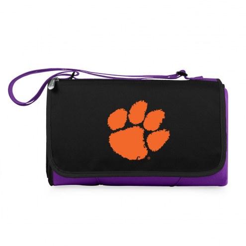 Clemson Tigers Purple Blanket Tote