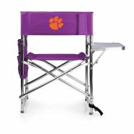 Clemson Tigers Purple Sports Folding Chair