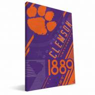 Clemson Tigers Retro Canvas Print