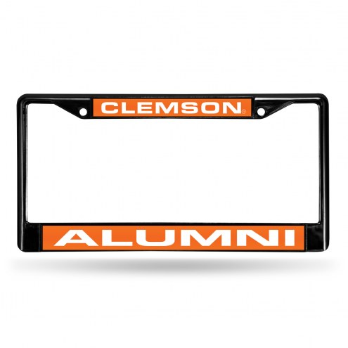 Clemson Tigers Laser Black License Plate Frame