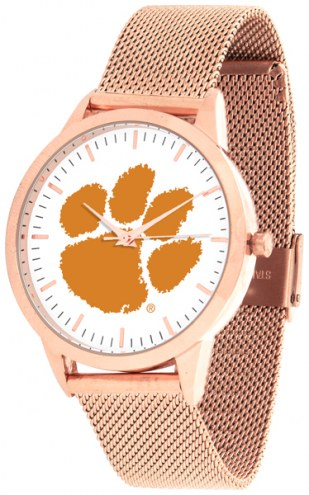 Clemson Tigers Rose Mesh Statement Watch