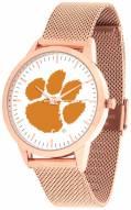 Clemson Tigers Rose Mesh Statement Watch