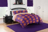 Clemson Tigers Rotary Queen Bed in a Bag Set