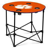 Clemson Tigers Round Folding Table