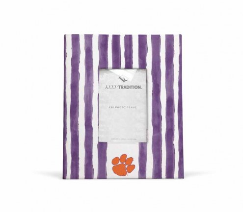 Clemson Tigers School Stripes Picture Frame