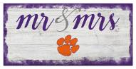 Clemson Tigers Script Mr. & Mrs. Sign