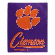 Clemson Tigers Signature Raschel Throw Blanket