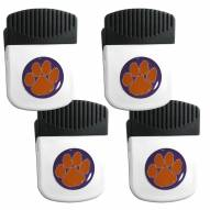 Clemson Tigers 4 Pack Chip Clip Magnet with Bottle Opener