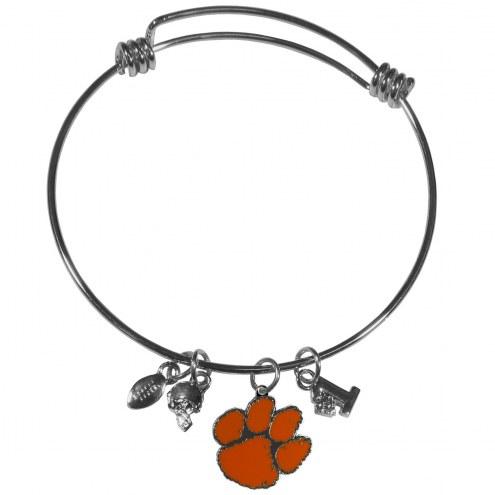 Clemson Tigers Charm Bangle Bracelet
