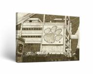 Clemson Tigers Sketch Canvas Wall Art