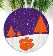 Clemson Tigers Snow Scene Ornament