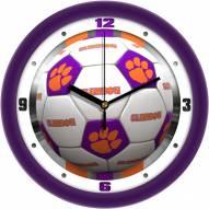Clemson Tigers Soccer Wall Clock