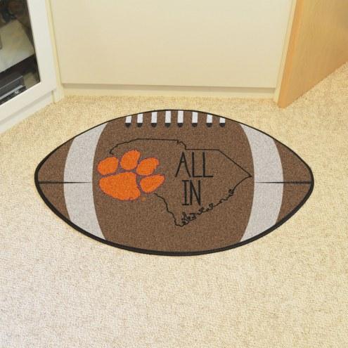 Clemson Tigers Southern Style Football Floor Mat