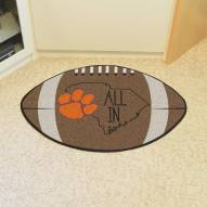 Clemson Tigers Southern Style Football Floor Mat