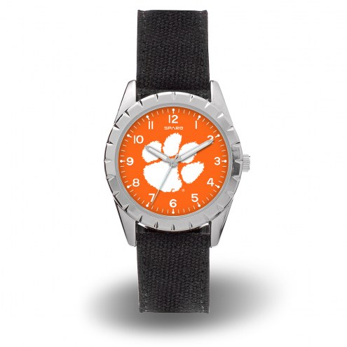 Clemson Tigers Sparo Men's Nickel Watch