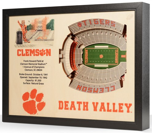 Clemson Tigers 25-Layer StadiumViews 3D Wall Art