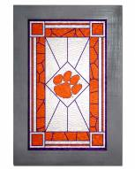 Clemson Tigers Stained Glass with Frame