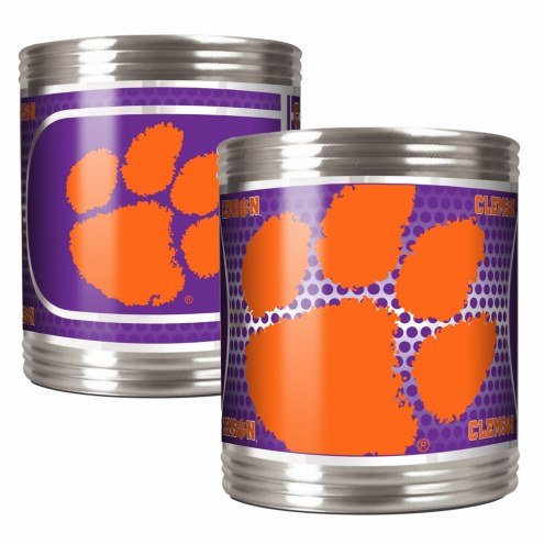 Clemson Tigers Stainless Steel Hi-Def Coozie Set