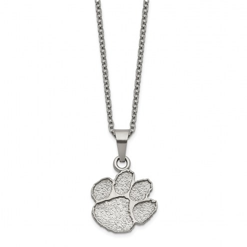 Clemson Tigers Stainless Steel Pendant Necklace