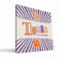 Clemson Tigers State Canvas Print
