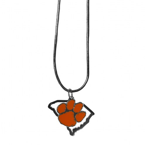 Clemson Tigers State Charm Necklace