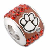 Clemson Tigers Sterling Silver Charm Bead