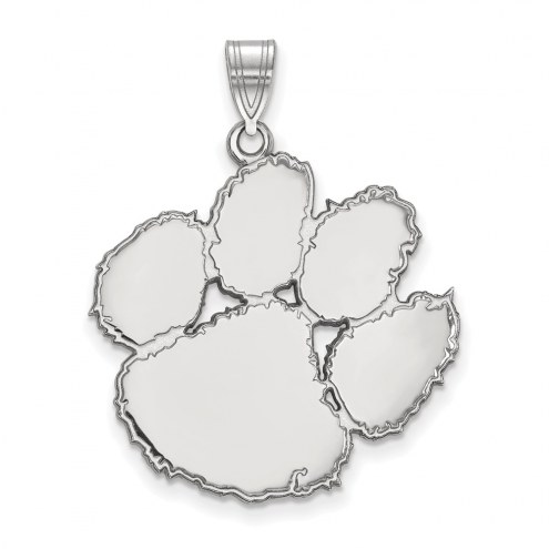 Clemson Tigers Sterling Silver Extra Large Pendant