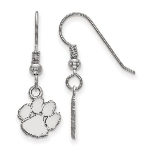 Clemson Tigers Sterling Silver Extra Small Dangle Earrings
