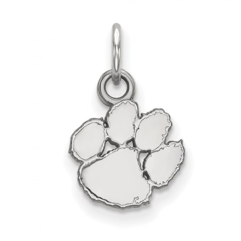 Clemson Tigers Sterling Silver Extra Small Pendant