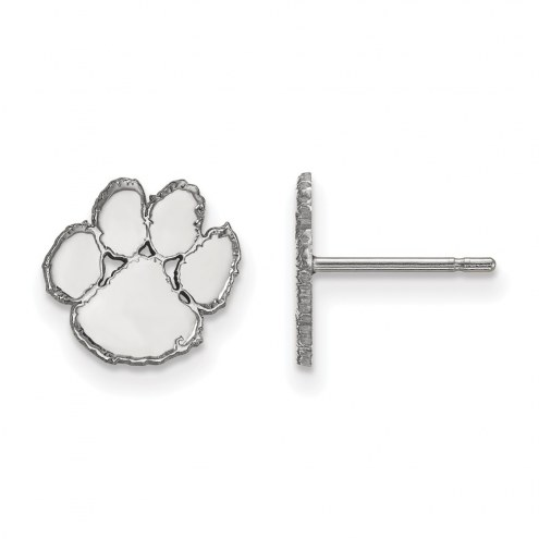 Clemson Tigers Sterling Silver Extra Small Post Earrings